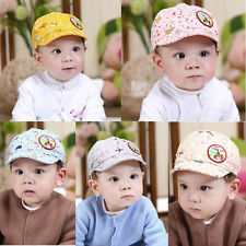 2015 Cotton Fashion Hat Baby Girls Boys Kids Baseball Cap Visor Summer Cute Hats