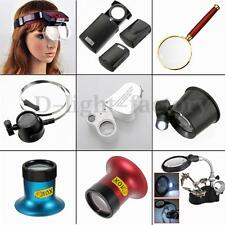 Multi Magnifier Magnifying Eye Glasses Loupe Lens Jeweler Watch Repair LED Light