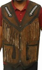 Kfire  Western Leather Vest - A Grade Suede Leather- Select Sizes