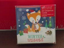Pack of 20 Cute Quality Christmas Cards Inc Envelopes See Pictures for Designs