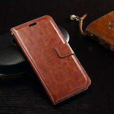 Vintage Leather Case Wallet Flip Stand Cover For Samsung Galaxy S6 Active G890
