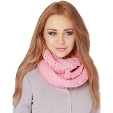 Fashion Womens Warm Winter Knitted Wool Knit Neck Circle Cowl Scarf Scarves LG