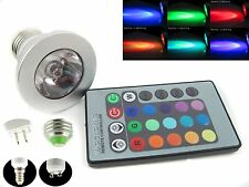 E27/GU10/E14/MR16 3W RGB LED 16 Color Change Light Ceiling Lamp Bulb + IR Remote