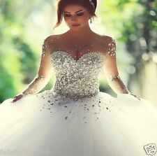 HOT Sweetheart White Bridal Gown Wedding Dress STOCK Size 4-6-8-10-12-14-16-18