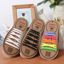 1Pair New Flat No Tie Shoelaces Elastic Silicon Shoe Laces For Running Sneakers