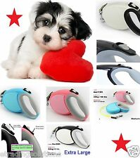 High Quality Pet Training Dog Lead Tape Retractable Leash Extendable 26FT NwDgld