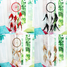 HOT 13cm Handmade Dream Catcher with Feathers Wall Hanging Decoration Ornament