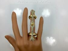 Crystal Bone Joint Finger Ring - Gold or Silver