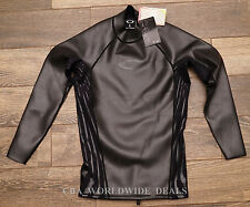 NEW Oakley Mens Surface Tension Jacket Surf Top 481756 Black Neoprene Size S - M