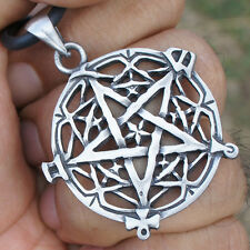 Pentacle Pentagram Celtic Star Pagan Paganism Wicca Occult Pendant Brass Pewter