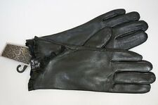 Ladies SUEDE faux fur Lined LEATHER GLOVES  WARM & SOFT  extremely ELEGANT
