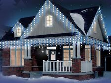 Christmas Xmas Bright LED Snowing Icicle Lights indoor Outdoor Tree Blue & White