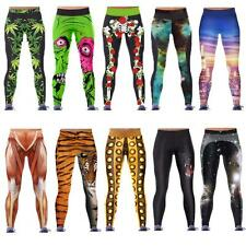 Women YOGA GYM Digital Print Stylish Space Skinny Galaxy Leggings Pants WJ3H