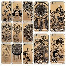 Retro Vintage Painting Clear Soft Case Cover Skin for iPhone 4 5S 5C 6 6S 6Plus