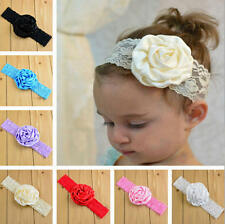 Kids Baby Girl Toddler Lace Rose Flower Headband Hair Band Headwear Accessories