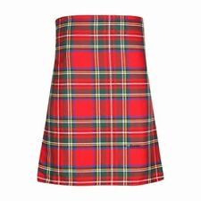 New Scottish Tartan Wedding Mens Kilt 8 Yard Polyviscose in Royal Stewart Modern