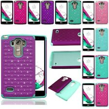 For LG G Vista 2 H740 Hybrid Hard Diamond Bling Cell Phone Case Skin Cover