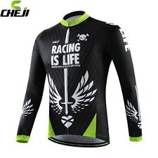 CHEJI Racing Men's Bike Clothing Jersey Long Sleeve MTB Cycling Jacket Shirt
