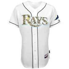 Tampa Bay Rays MAJESTIC Authentic USMC Military Camo Home White Cool Base Jersey