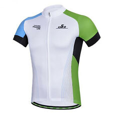 CHEJI Retro Men's Cycling Jerseys Short Sleeve Sports Wear Tops Bike Shirts