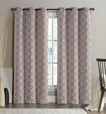 2-Cinnamon Alexander Thermal Insulated Woven Blackout Curtain Grommet Panels