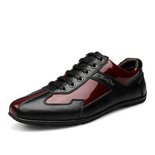 New Men's Genuine Leather Casual Shoes Fashion Lace up Oxfords Loafers Size