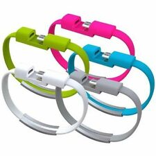 1Pc Bracelet Wrist Band USB Charging Charger Data Sync Cable Cord For Cell Phone