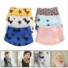 Infants Toddler Baby Kid Towel Saliva Lunch Bibs Cotton Bandana Head Scarf New