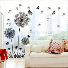 Dandelion Flower Butterfly Wall Stickers Art Decal Vinyl Home Decor 60x90cm New