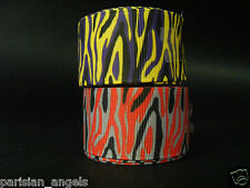 "25mm (1"") Printed Grosgrain Ribbon - Zebra Stripes #2"