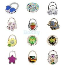 Various Colors Pattern Rhinestone Folding Bag Purse Handbag Hook Hanger Holder