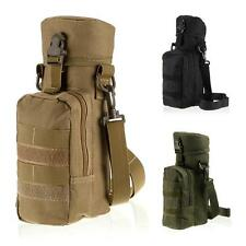 Military Molle Water Bottle Carry Pouch Insulated Heat Cold Kettle Shoulder Bag