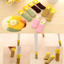 4pcs Floor Protector Knit Chair Table Leg Foot Sock Sleeve Cover Anti Scratch