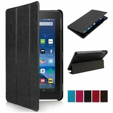 For Amazon Kindle Fire 7 8 10 2015 Tablet Leather Folio Stand Case Smart Cover
