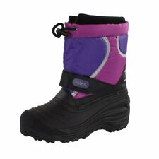 Totes Tina Purple Snow Boots Waterproof Shell Shoes for Girls Kids