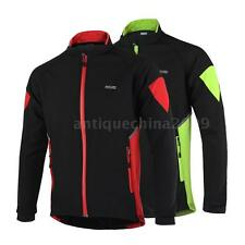 Men Thermal Winter Cycling Long Sleeve Jacket Bicycle Bike Windproof CN Size