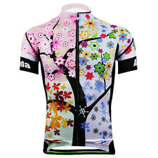 Summer Women's Cycling Clothing Cycling Jerseys Short Sleeve Shirts Colour Tree