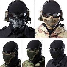 Strike Metal Mesh SKULL Half Face Mask Tactical Airsoft Military Protect Safety