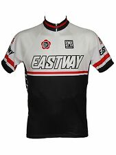 Santini White-Black 2013 Custom Eastway Short Sleeved Cycling Jersey