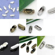 200Pcs DIY Connectors Clasps Charm Fermoir Fit 1-4mm Ball Chain Jewelry Making
