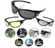 Foam Motorcycle Sunglasses Biker Riding Glasses Mens SMOKE YELLOW CLEAR Night