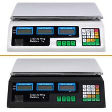 New Black White 40KG Commercial Kitchen ELECTRONIC DIGITAL SCALES Accurate Power