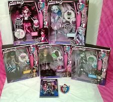 5 Monster High GHOULS RULE Dolls ABBEY Clawdeen Cleo Draculaura Frankie with DVD