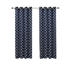 "Navy Room DarkeningThermal Insulated Grommet Meridian Window Curtain Panel(108"")"