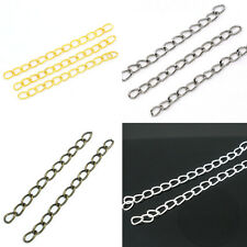 200 DIY Extended & Extension Chains Tail Extender Charms Jewelry Making 50mm