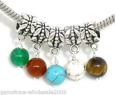Wholesale Lots Mixed Dangle Beads Charms. Fits Charm Bracelet 24x6mm