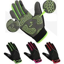 Reflective Full Finger Cycling Gloves Touch Screen Bike Bicycle Gloves GEL Pad