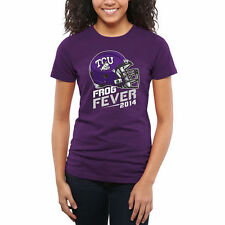 TCU Horned Frogs Frog Fever Women's Slim Fit T-Shirt - Purple - College