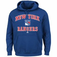 New York Rangers Majestic Heart & Soul Hoodie - Royal Blue - NHL