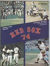 1974 Boston Red Sox Program at Fenway Park Yastrzemski